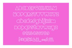Giggle Glory, a fun block font Product Image 6