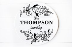 Family Monogram Name sign svg Floral Product Image 1