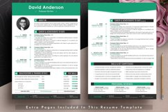 Clean Editable Resume Cv Template in Word Apple Pages Format Product Image 3