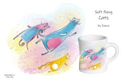 Flying Cats - patterns, illustrations Product Image 3