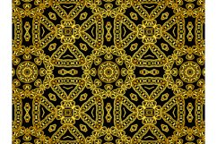 Pattern Abstract Gold Color Circle Ornament Product Image 1