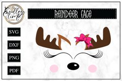 Cute Reindeer Face | Christmas SVG Product Image 1