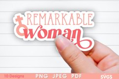 Women Equality Sticker Bundle | PNG Printable Sticker Pack Product Image 2
