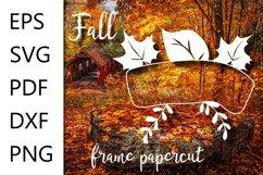 Fall frame SVG cut file - EPS SVG PDF DXF PNG Product Image 1