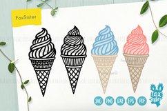 Ice cream svg, desserts svg, Ice Cream Cone svg dxf Product Image 1