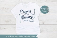 Prayers Go Up SVG, png, eps, sublimation, printable Product Image 1