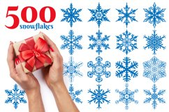 500 Snowflake Vector Ornaments Product Image 1