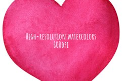 Love speech bubble. Set of pink hearts watercolor clip art Product Image 3