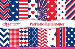 Patriotic digital paper Product Image 1