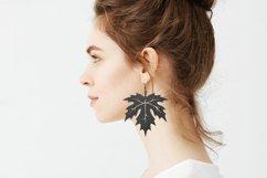 Leaf earrings, earrings svg bundle, earring template leather Product Image 2