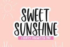 Sweet Sunshine - A Quirky Handwritten Font Product Image 1
