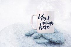 Winter mug mock-up bundle - 8 jpeg mockups Product Image 4