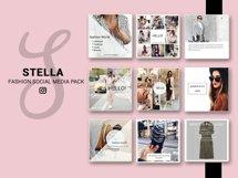 Fashion Social Media Pack, Social Media Bundle, 20 Square Social Media Templates, Instagram Template Pack, Social Media Graphics Pack Product Image 1