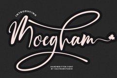 Moegham - Script Handwritten font Product Image 1