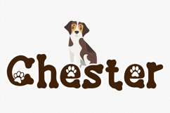 Lucky Paw Font | Pet Paw Font | bones and paw Letters Product Image 4