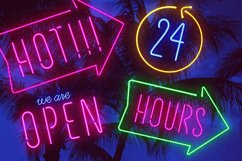 Night Light Neon Font - Compressed Product Image 6