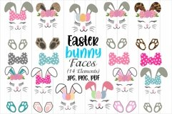 Easter Bunny Faces, Easter Sublimation Designs, Easter bows Product Image 1