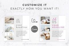 Instagram Post Carousel for Canva   Slideshow   White Linen Product Image 3