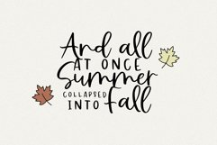 Falling Leaves - A Font Duo with Doodles Product Image 2
