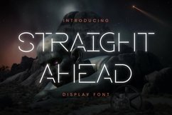 Web Font Straight Ahead Font Product Image 1