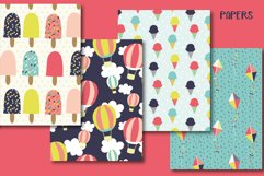 Summer fun clipart and paper set Product Image 3