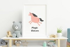 Magic Unicorn Digital Clipart, kids illustration, PNG, SVG Product Image 2