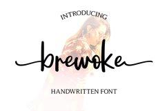 Brewoke   Handwritten Font Product Image 1