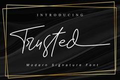Trusted // Signature Font - WEB FONT Product Image 1