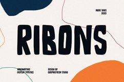 Ribons - A Handwriting Display Font Product Image 1