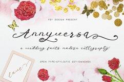 Anniversa Wedding Font Product Image 1