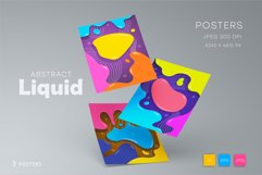 Colorful posters in liquid style. Product Image 3