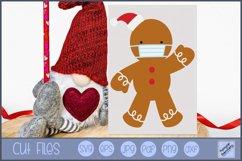 Face Mask Gingerbread Man SVG | Christmas SVG Product Image 1