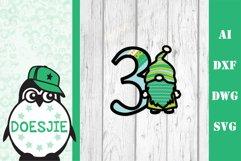 Gnome letters 3D multi layer mandala layered alphabet bundle Product Image 10