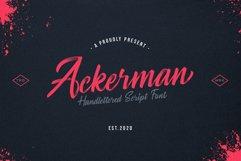 Ackerman Handlettered Script Font Product Image 1