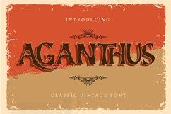 Aganthus   Classic Vintage Font Product Image 1