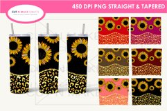 7 Sunflower 20 Oz. Skinny Tumbler Sublimation Bundle Product Image 1
