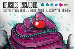 Cupcake Tattoo Style Vector Product Image 2