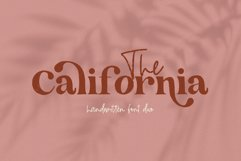 The California - A Serif/Script Handwritten Font Duo Product Image 1