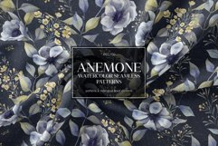 ANEMONE watercolor patterns set Product Image 1