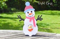 Snowman, Christmas egg holder design SVG / DXF / EPS files Product Image 4