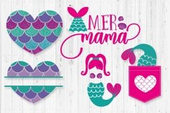 Mermaid bundle svg cut file for crafters Product Image 3