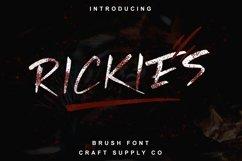 Rickies - Brush Font Product Image 1