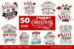 Funny Christmas SVG Bundle 50 designs Product Image 4