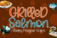 Grilled Salmon - Cute Playful Script Product Image 1