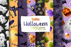 Halloween Digital Papers Product Image 1