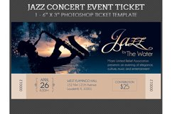Jazz Concert Event Ticket Template Product Image 2
