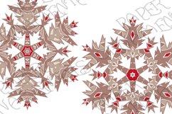 Christmas Clip Art, Peppermint & Mocha Snowflakes Product Image 6