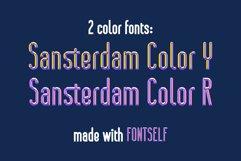 Sansterdam Color Font Product Image 3