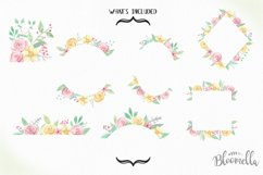 Rose Bliss 7 Frames Watercolor Floral Border Flowers Pink Product Image 5