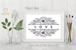Flower Wreaths SVG Bundle , Flower monogram cut file Product Image 2
